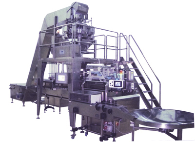 Automatic plant for packaging